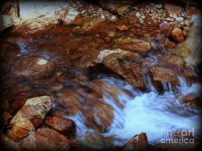 Art Print featuring the photograph Lake Shasta Waterfall  by Garnett  Jaeger