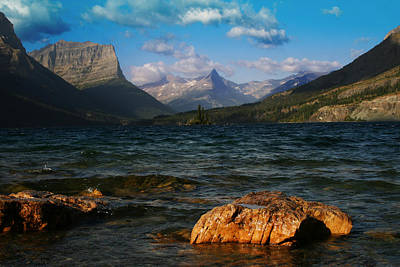Photograph - Lake St Mary Glacier National Park by Benjamin Dahl