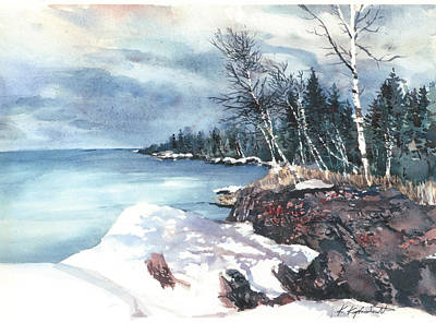 Painting - Lake Superior  by Kerry Kupferschmidt