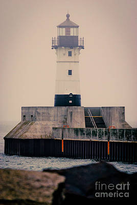 Photograph - Lake Superior Lighthouse by Mark David Zahn Photography