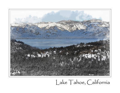 Lake Tahoe California In Winter Print by Brandon Bourdages