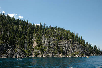 Beauty Photograph - Lake Tahoe Cliffs by LeeAnn McLaneGoetz McLaneGoetzStudioLLCcom