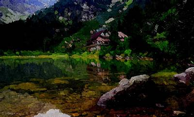 Painting - Lake Tahoe by Lynda K Cole-Smith