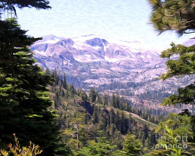Lake Tahoe Mountains Art Print by Anne Raczkowski