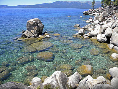 Photograph - Lake Tahoe Shore by Frank Wilson
