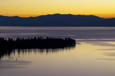 Lake Tahoe Silhouette - California Art Print by Brendan Reals