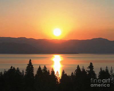 Lake Tahoe Sunrise Art Print by Anne Raczkowski