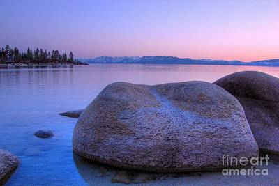 Sand Harbor Photograph - Lake Tahoe Sunset by Scott McGuire