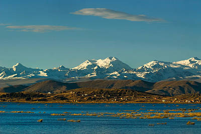 Lake Titicaca And The Cordillera Real In The Background.republic Of Bolivia. Art Print by Eric Bauer