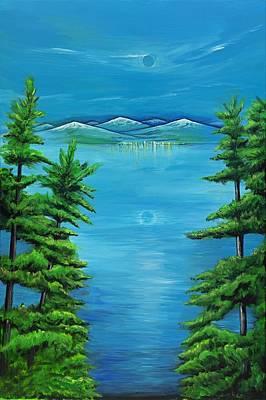 Painting - Lake View by David Junod