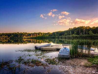 Photograph - Lake View Row Boat by Jenny Ellen Photography