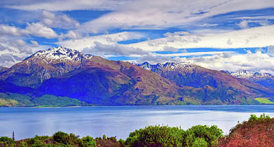 Photograph - Lake Wanaka And Mount Alba by Harry Strharsky