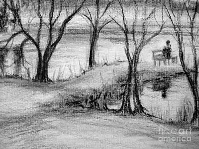 Art Print featuring the photograph Lake Watcher by Gretchen Allen