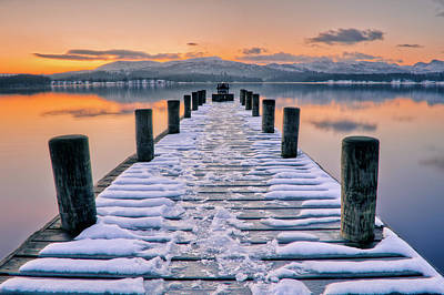 Cold Temperature Photograph - Lake Windermere At Sunset by Bhawika Nana Photography
