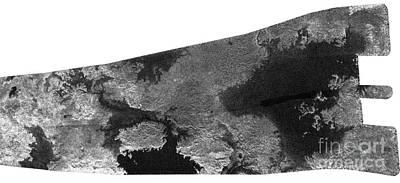 Photograph - Lakes On Titan by Nasa