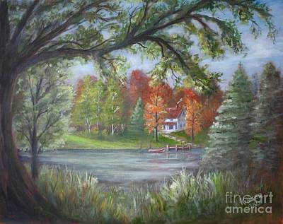 Painting - Lakeside Cottage by Marlene Kinser Bell