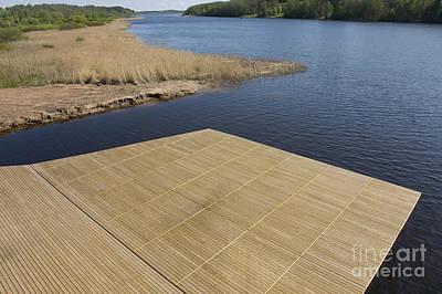 Wooden Platform Photograph - Lakeside Dock by Jaak Nilson