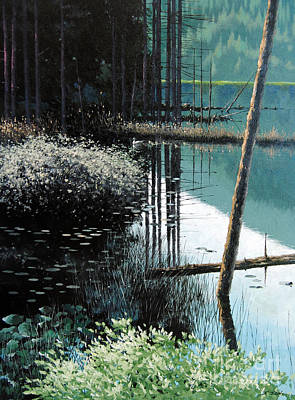 Quietness Painting - Lakeside In June by Isao Ito