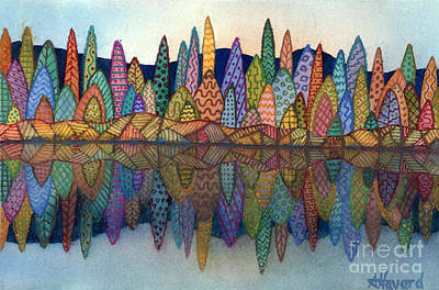 Painting - Lakeside Reflection by Anne Havard