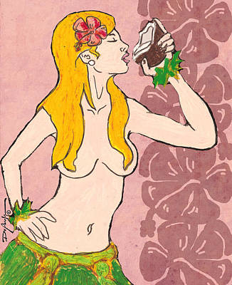 Keith Richards - Lalama Hula Girl by William Depaula