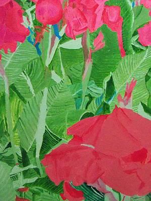 Imitation Painting - Lalbagh Flowers by Rahul Narasimhan