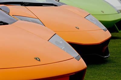 Photograph - Lamborghinis by Jill Reger