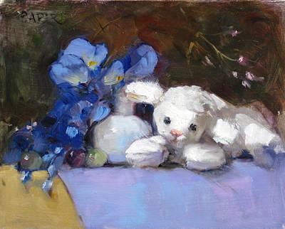 Painting - Lamb's Ear by Chris  Saper