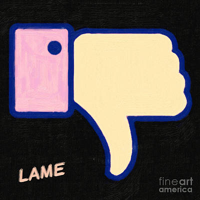 Lame . Painterly Art Print by Wingsdomain Art and Photography