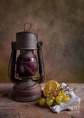 Grape Photograph - Lamp And Fruits by Nailia Schwarz