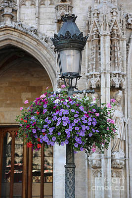 Lamp And Lace At The Grand Place Art Print by Carol Groenen