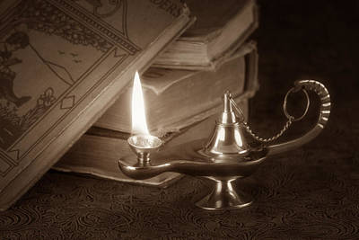 Oil Lamp Photograph - Lamp Of Learning by Tom Mc Nemar