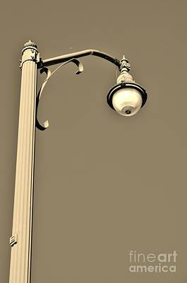 Photograph - Lamp Post At Stuart Causeway In Sepia by Lynda Dawson-Youngclaus