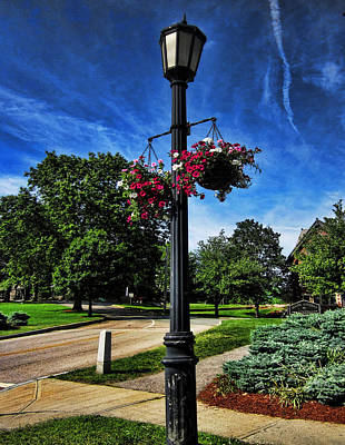 Lamp Post Photograph - Lamp Post In The Park by Lourry Legarde