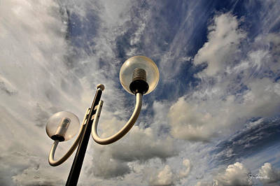 Photograph - Lamppost Honors The Sky by Joe Bonita