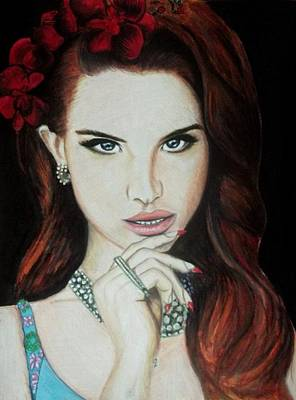 Lana Del Rey Mixed Media - Lana Del Rey by Laura Seed