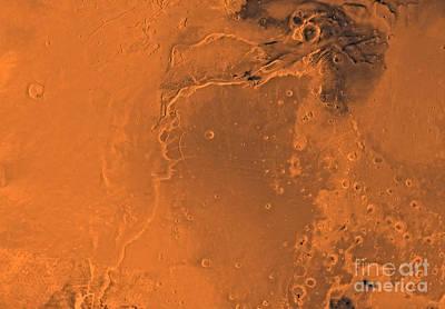 Photograph - Lanae Palus Region Of Mars by Stocktrek Images