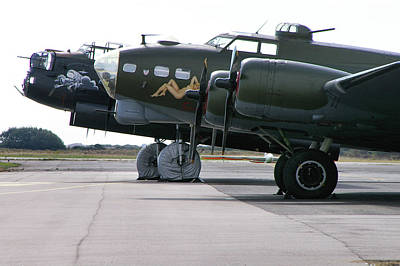 Photograph - Lancaster And B-17g by Tim Beach