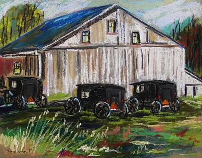 Amish Farms Drawing - Lancaster Meeting by John Williams