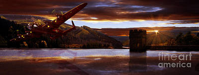 Howden Reservoir Photograph - Lancaster Over Howden Dam by Nigel Hatton