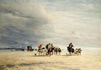 Lancaster Painting - Lancaster Sands by David Cox