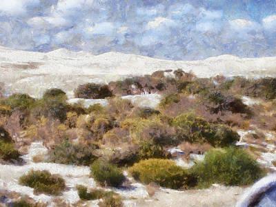Art Print featuring the digital art Lancelin White Sands  by Roberto Gagliardi
