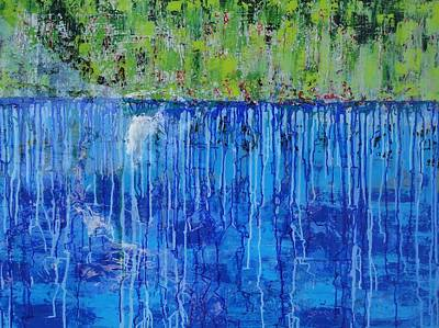 Painting - Land Of Blue Resin by Elizabeth Langreiter