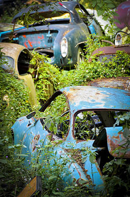 Antique Automobiles Photograph - Land Of The Lost by Carolyn Marshall