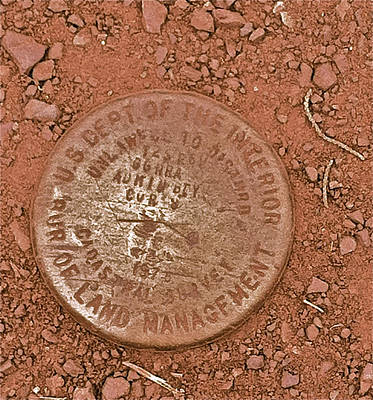 Land Survey Marker Art Print by Bill Owen