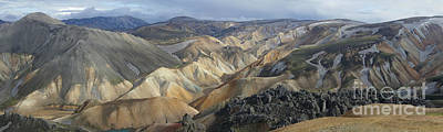 Art Print featuring the photograph Landmannalaugar Panorama 1 by Rudi Prott