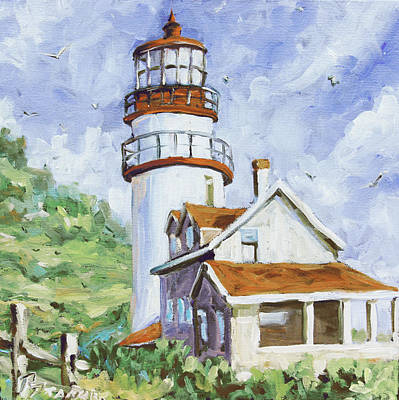 Lighthouse By The Ocean Painting - Lands End 02 By Prankearts by Richard T Pranke