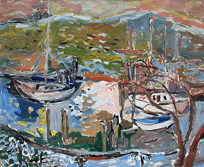 Painting - Landscape From City Island by Jadwiga Jehudith  Sobel
