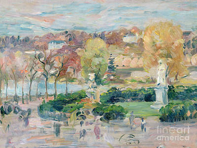 Landscape In Tours Art Print by Berthe Morisot