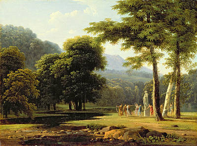 Pagan Painting - Landscape by Jean Victor Bertin