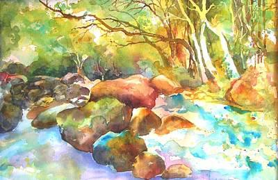 Landscape Kaleidoscope Art Print by Betty M M   Wong